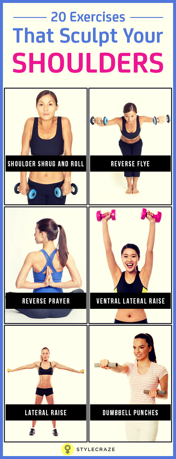 20 exercises that sculpt your shoulder