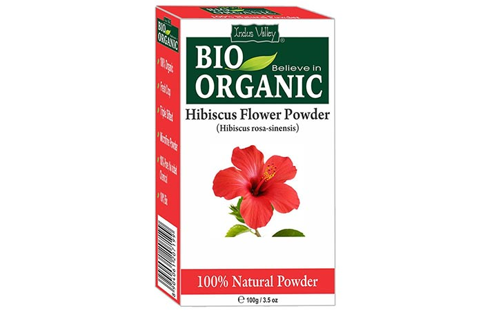 Best Organic Hair Masks - Indus Valley Bio-Organic Hibiscus Flower Powder