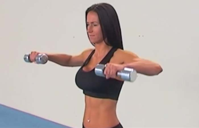 Shoulder Exercises For Women - Bent Arm Lateral Raises