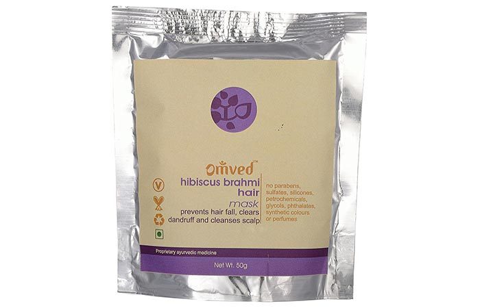 Best Organic Hair Masks - Omved Hibiscus Brahmi Hair Mask