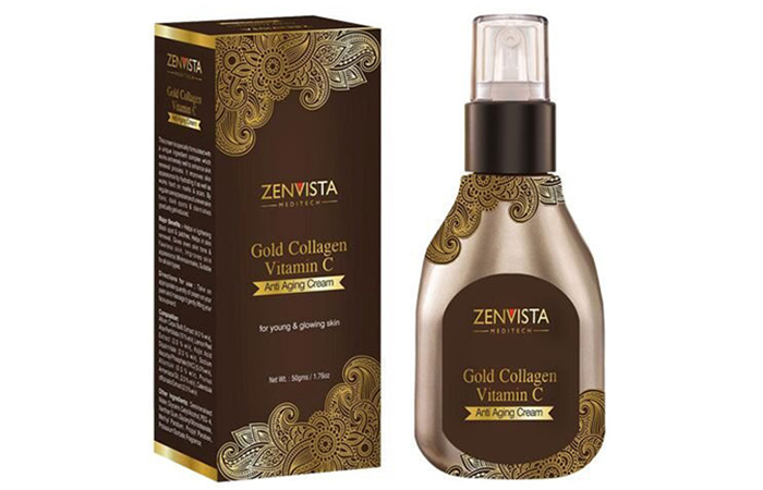 7. Zenvista Gold Collagen Vitamin C Anti Aging Cream