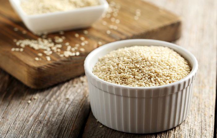 8. Chew Sesame Seeds