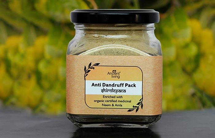 9. Ancient Living Anti Dandruff Pack