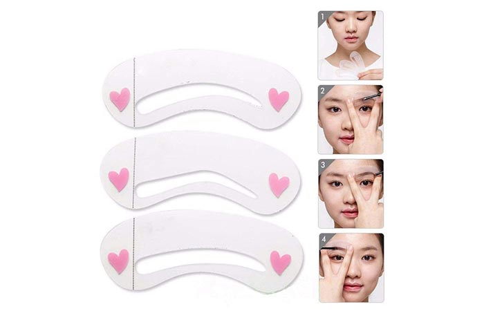 AURINKO Reusable Eyebrow Shaping Stencil Sticker