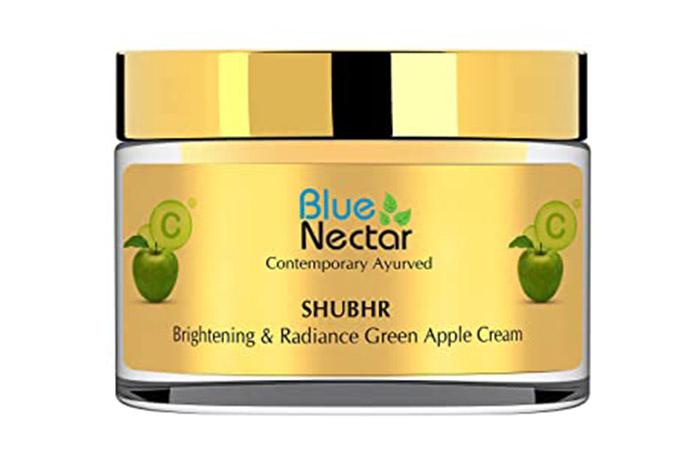 Best Ayurvedic Formula Blue Nectar Shubhr Brightening & Radiance Green Apple Cream
