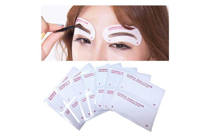 EBANKU 24 Styles Quick Makeup Eyebrow Stencils