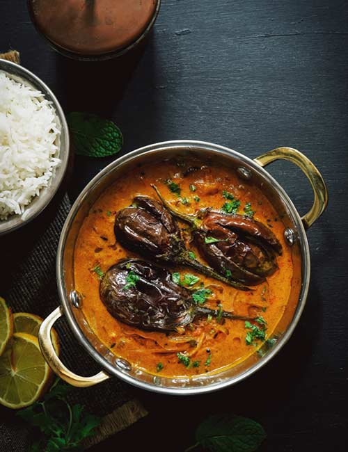 Eggplant Yogurt Curry