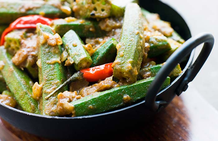 Indian Vegetarian Dinner Recipes - Bhindi Masala