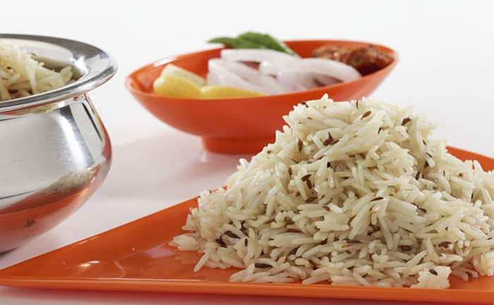 Indian Vegetarian Dinner Recipes - Jeera Rice