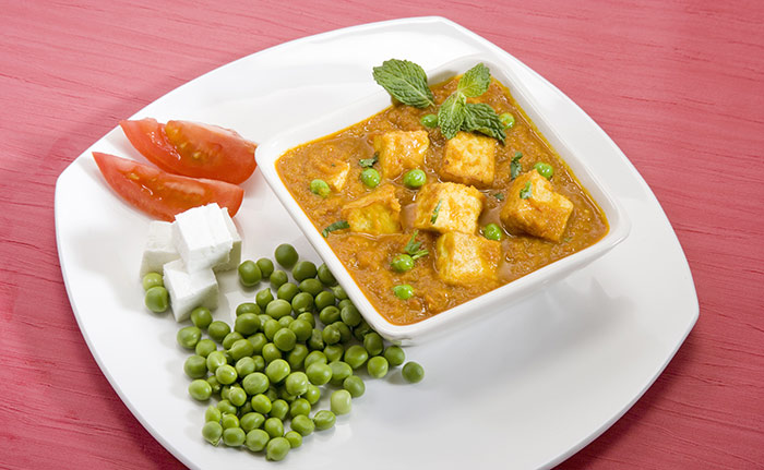 Indian Vegetarian Dinner Recipes - Matar Paneer