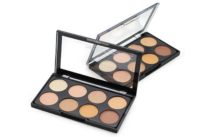 Kiss Beauty Highlighter And Contour Concealer Palette