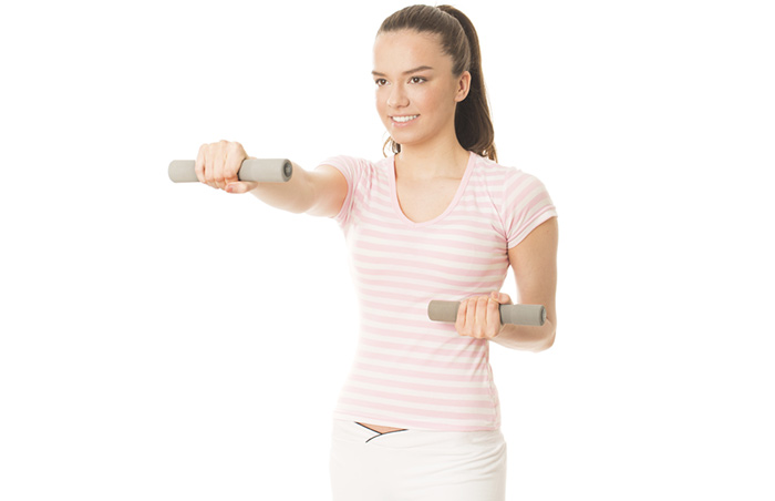 Shoulder Exercises - Dumbbell Punches