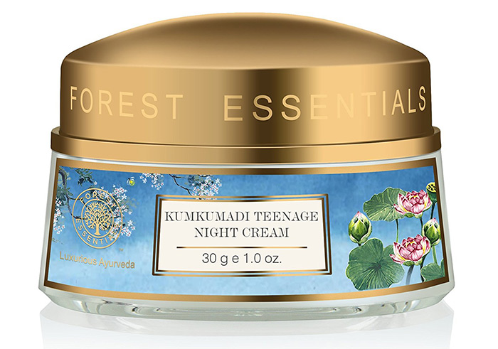 10. Forest Essentials Kumkumadi Teenage Night Cream
