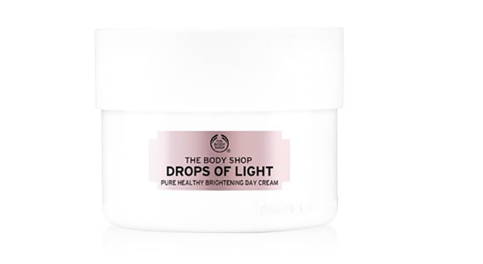 3. The Body Shop Drops Of Light Pure Healthy Brightening Day Cream