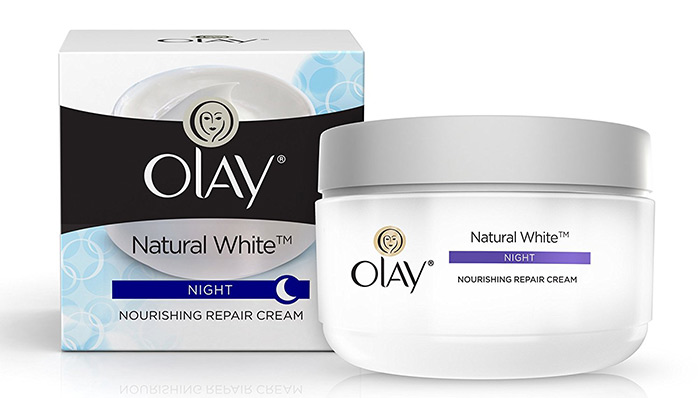 9. Olay Natural White Night Nourishing Repair Cream