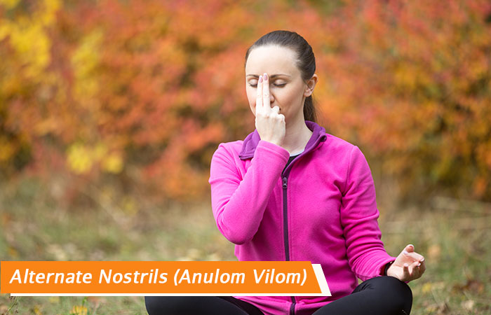Alternate-Nostrils (Anulom-Vilom) - Breathing exercises to treat Headache