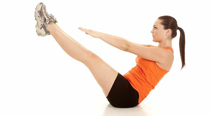 Exercises For Weight Loss - Jackknife Sit-ups