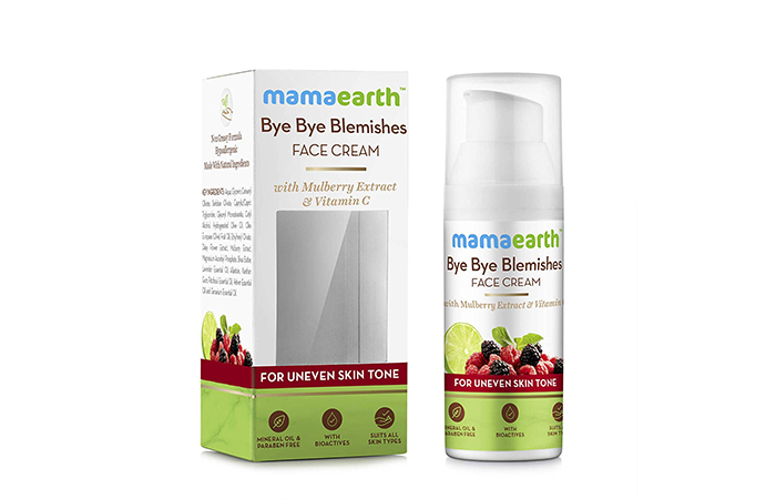 Creams For Dark Spots - MamaEarth Bye Bye Blemishes Face Cream