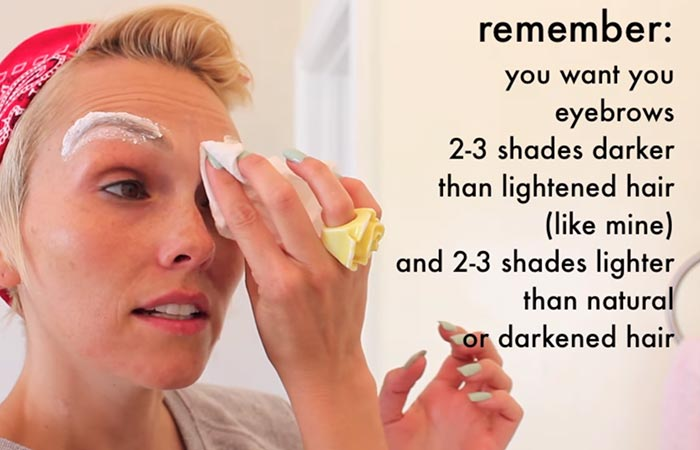 4 Simple Tips To Perfectly Lighten Your Eyebrows Using Bleach