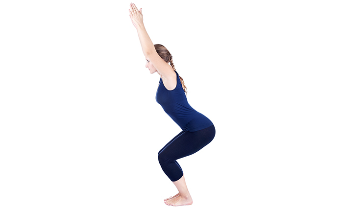 Exercises For Weight Loss - Chair Pose
