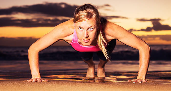 Exercises For Weight Loss - Plank Push-ups