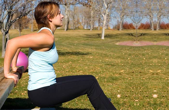 Exercises For Weight Loss - Triceps Dips