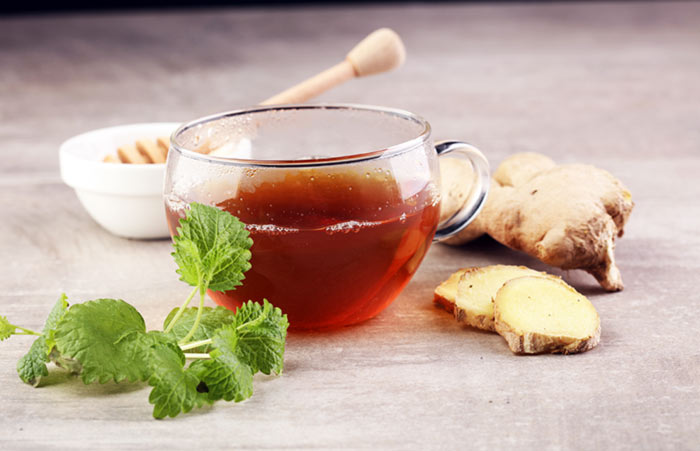 4. Peppermint And Ginger Tea