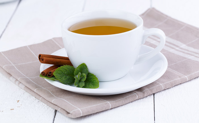 6. Peppermint And Cinnamon Tea