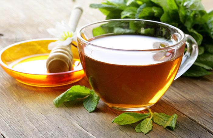 8. Peppermint And Honey Tea