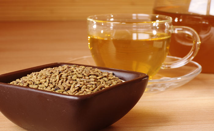 9. Peppermint And Fenugreek Seed Tea