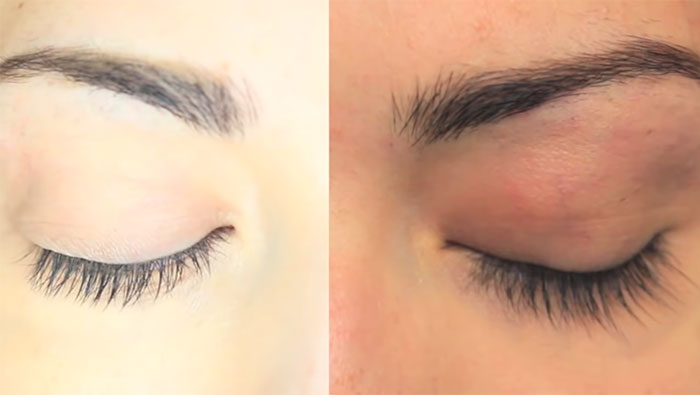 Castor Oil Eyelash Growth Results Before & After