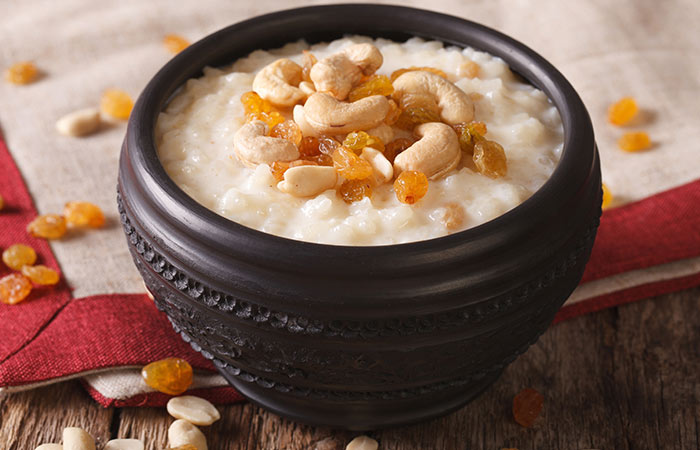 1. Rice Kheer With Condensed Milk