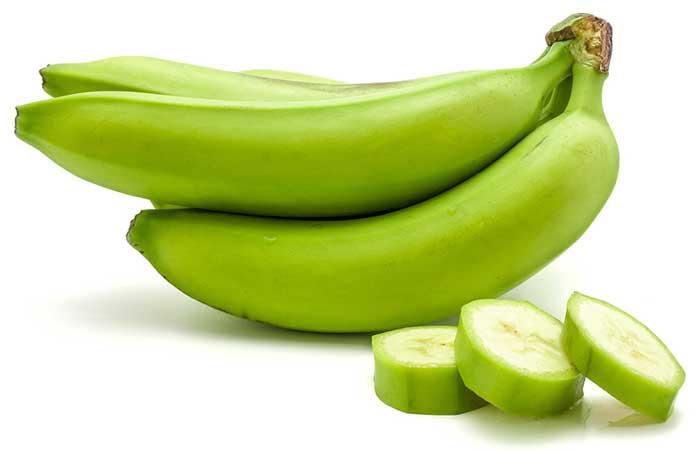 1. Unripe Green Bananas