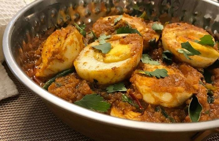 Egg Curry Recipes - Kolhapuri Egg Curry