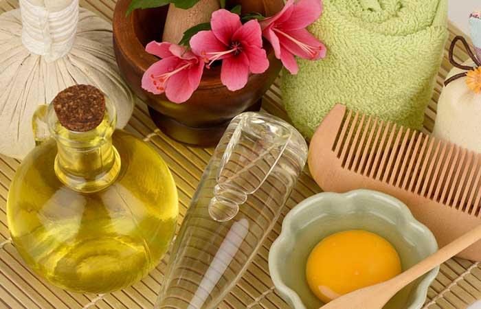 Castor Oil For Treating Dandruff - Castor Oil, Coconut Oil, And Egg