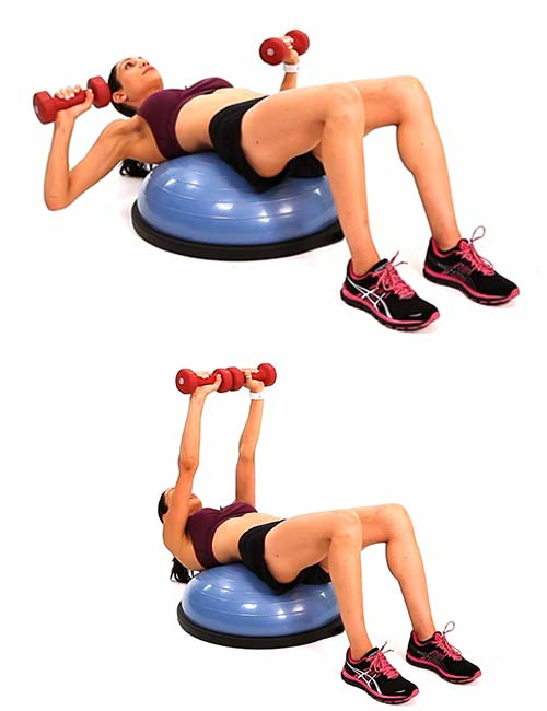 Chest Press - BOSU Ball Exercises