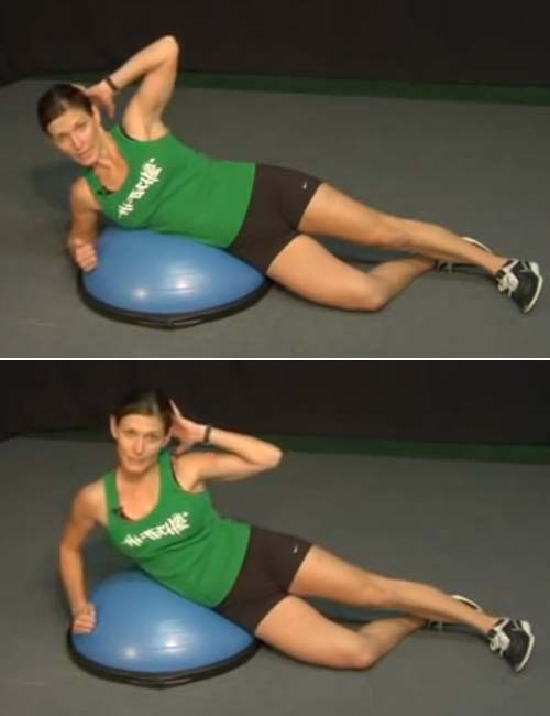 Crunch Oblique - BOSU Ball Exercises