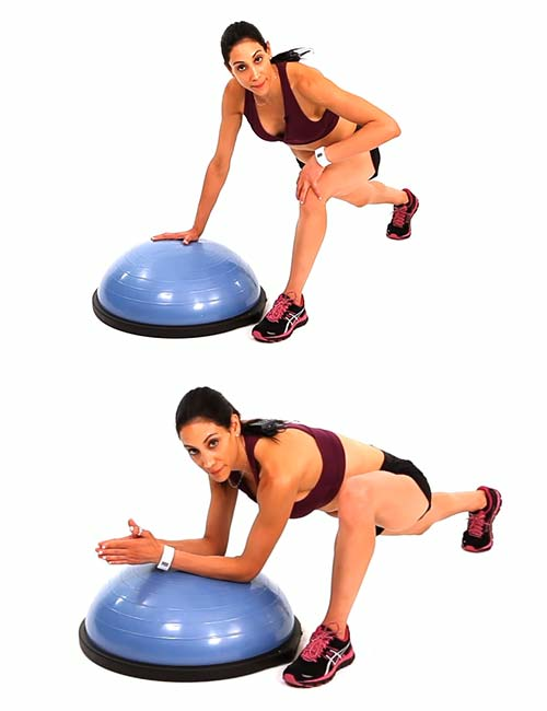 Hip Flexor Stretch - BOSU Ball Exercises