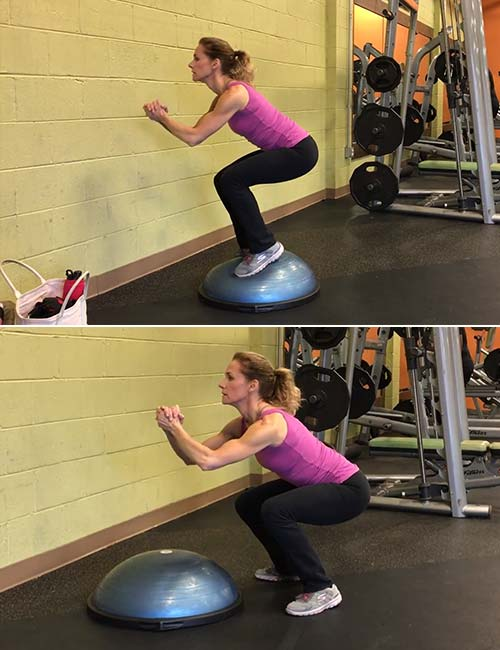 Jump Squats - BOSU Ball Exercises