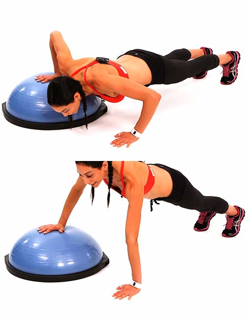 One Arm Push-up - BOSU Ball Exercises