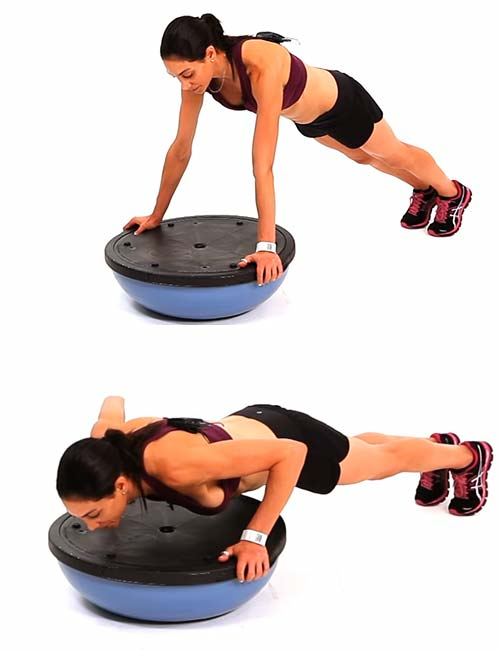 Push-ups - BOSU Ball Exercises