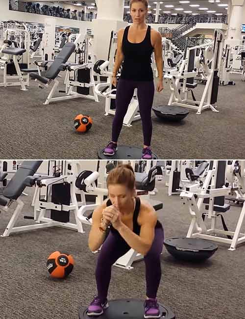 Squat - Bosu Ball Exercises