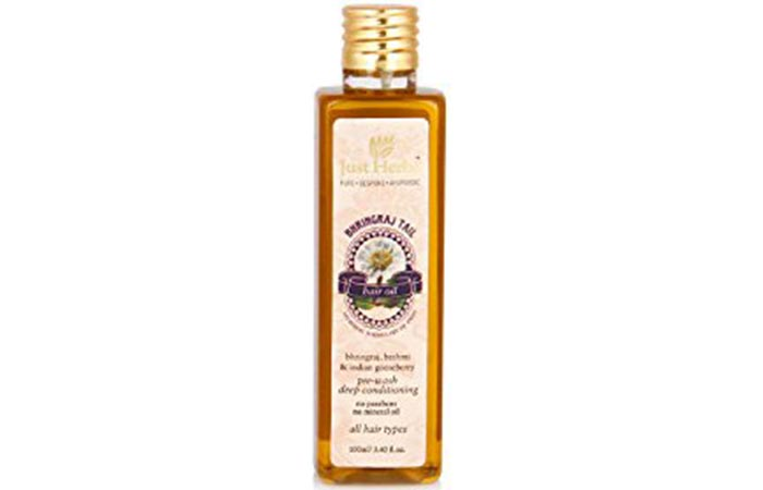 2.Just Herbs Bhringraj Hair Oil