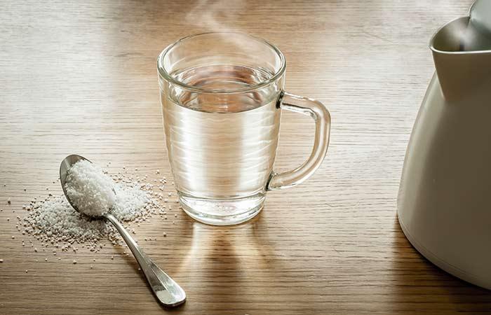 3. Warm Salt Water