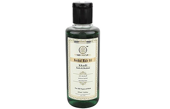 3. Khadi Amla And Brahmi Hair Oil
