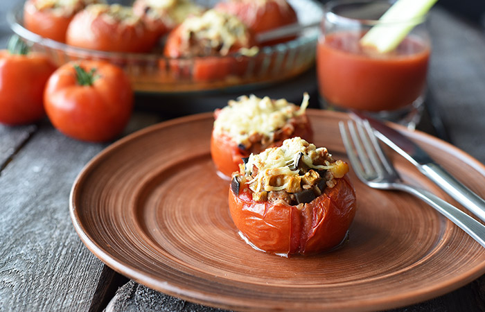 Tomatoes For Weight Loss - Recipes - Mushroom Stuffed Tomato