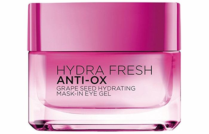 4. L'Oreal Hydrafresh Anti-Ox Grape Seed Hydrating Mask-In Eye Gel