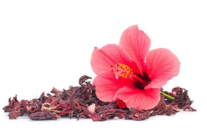 6. Castor Oil And Hibiscus Petals