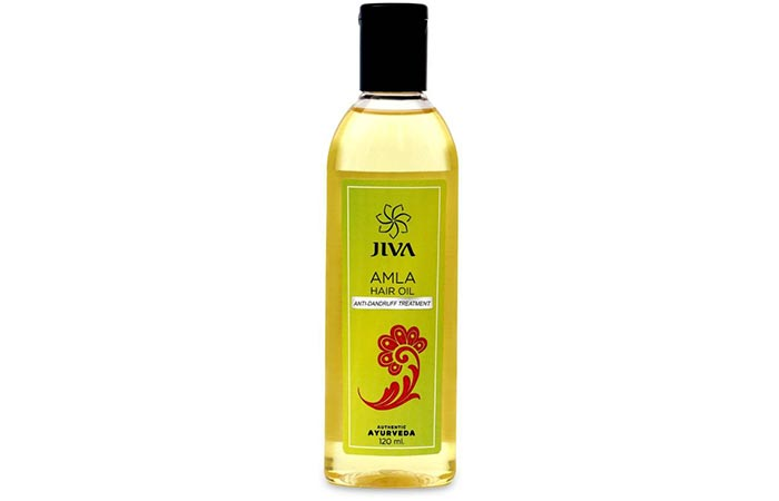 6. Jiva Ayurveda Amla Hair Oil