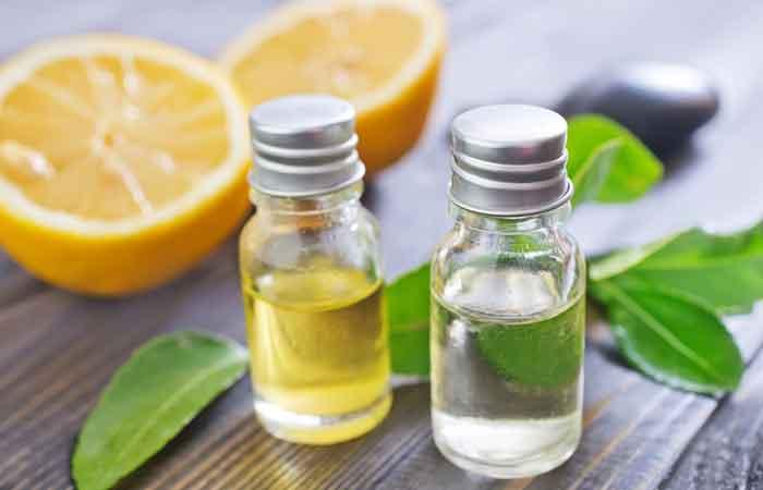 6. Lemon Or Peppermint Essential Oil